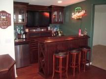 Irish Pub Home Bar Designs