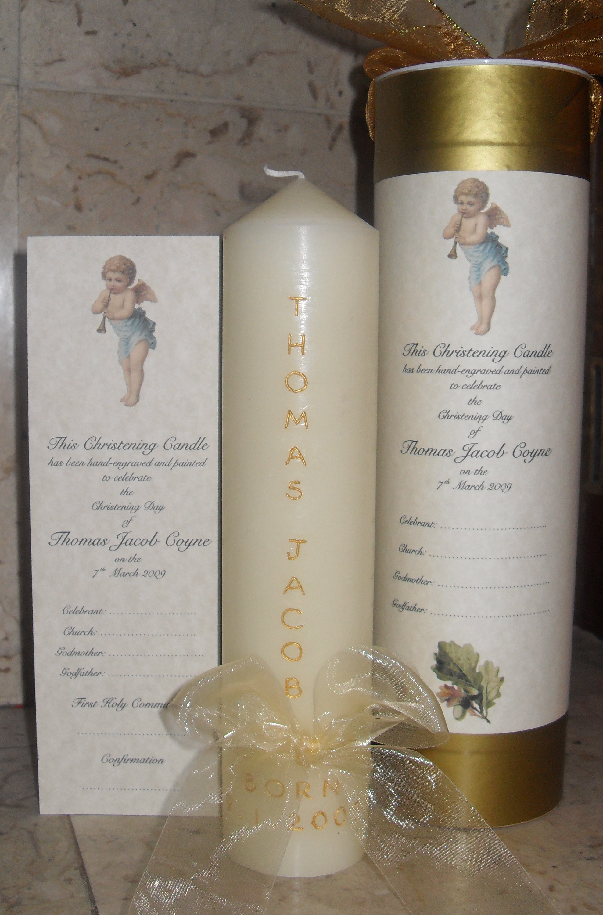 Christening Naming Candles Candledesigns