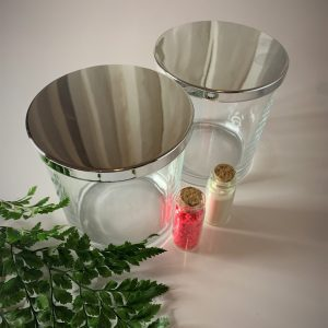 clear glass vessel for candle making