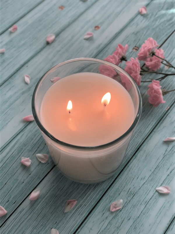 ilite white lit candle plain scented naked