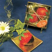 scented chocolate strawberry candle