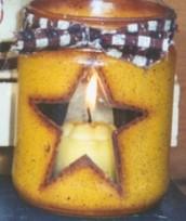 star jar candle holder