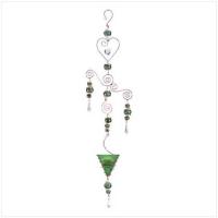 Green Hanging Candle Lantern