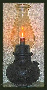 faux oil lamp