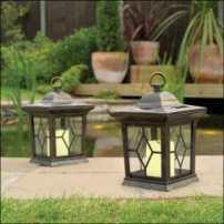 Solar candle lantern