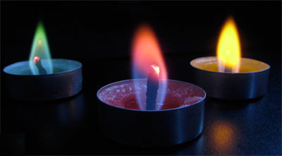 Try Colored Flame Candles or Make Your Own – Candle Making