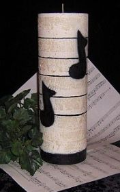 Music note candle