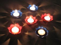Painted tealight candle holder