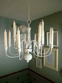 Convert electric chandelier into candle chandelier candle making jacqueline from bellingham ma shared this fantastic candle chandelier conversion project at decorating ideas made easy mozeypictures Choice Image