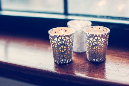Doily Votives @ Craft Gossip