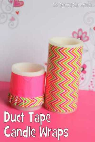 Duct Tape Candle Wraps @ Craft Gossip