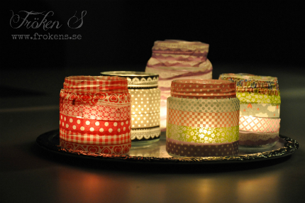 Easy Washi Tape Candle Holders @ Craft Gossip