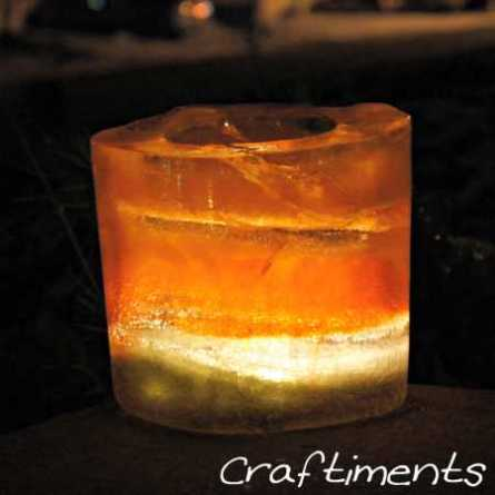 Ice Luminaries @ Craft Gossip