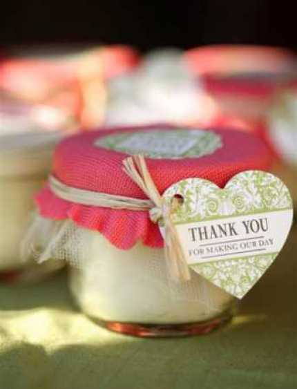 Mason Jar Candle Wedding Favors @ Craft Gossip