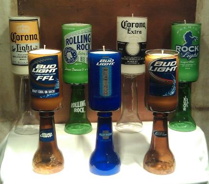 Unique Beer Bottle Candles