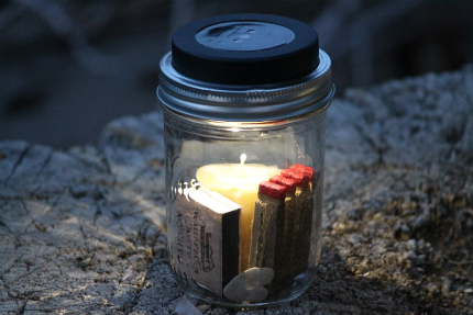 Solar Powered Mason Jar Camping Lantern