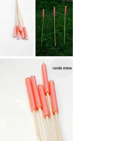 Easy Outdoor Candle Stakes