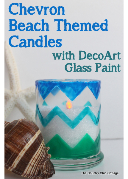 Beachy Chevron Candles