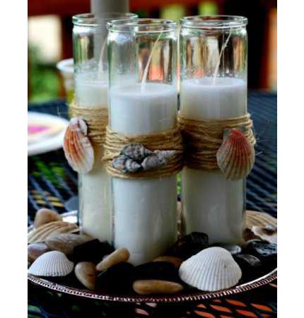 Beach Theme Candles