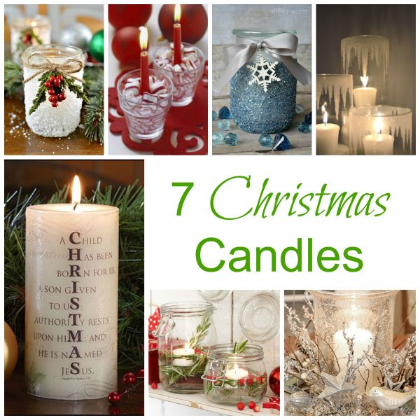 Home Decor Unique Jewelry Hand Crafted Gifts Candles In: 7 Christmas Candles