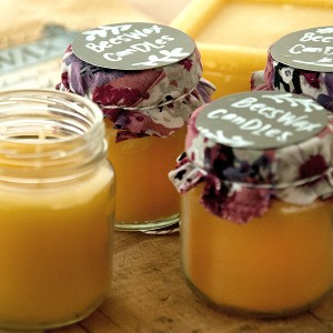 Bees Wax And Bottled Candles