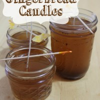 Home-made Gingerbread Candles
