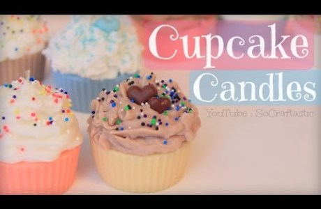 Make Your Own Valentine's Day Cupcake Candles