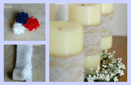 4th Of July Patriotic Candles