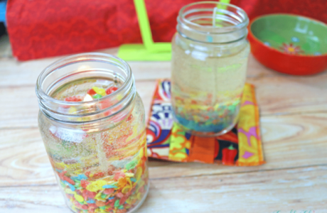 Fruit Pebbles DIY Gel Candle