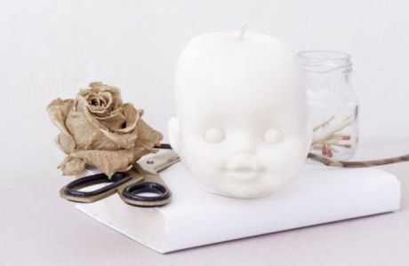 Halloween Dolls Head Candles
