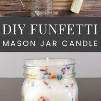 Funfetti Mason Jar Candles