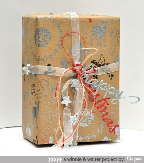 ©Candles in the Garden. Gift of Giving | Winnie and Walter. Cutaways / Die cut word tags.