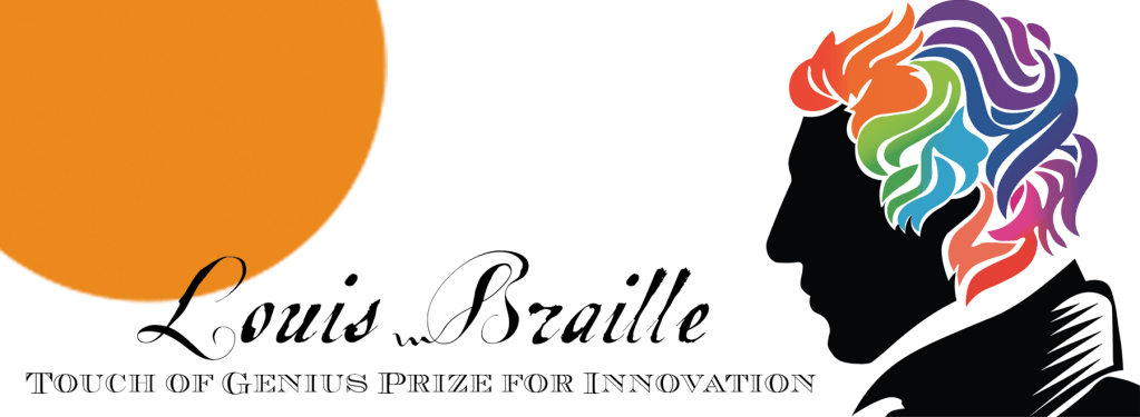 Logo of the Louis Braille Touch of Genius Award for Innovation 2020