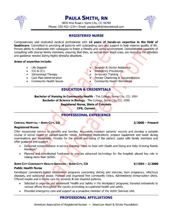 Registered Nurse Resume Sample by Cando Career Coaching