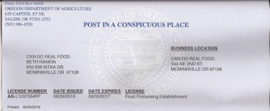 2016 license