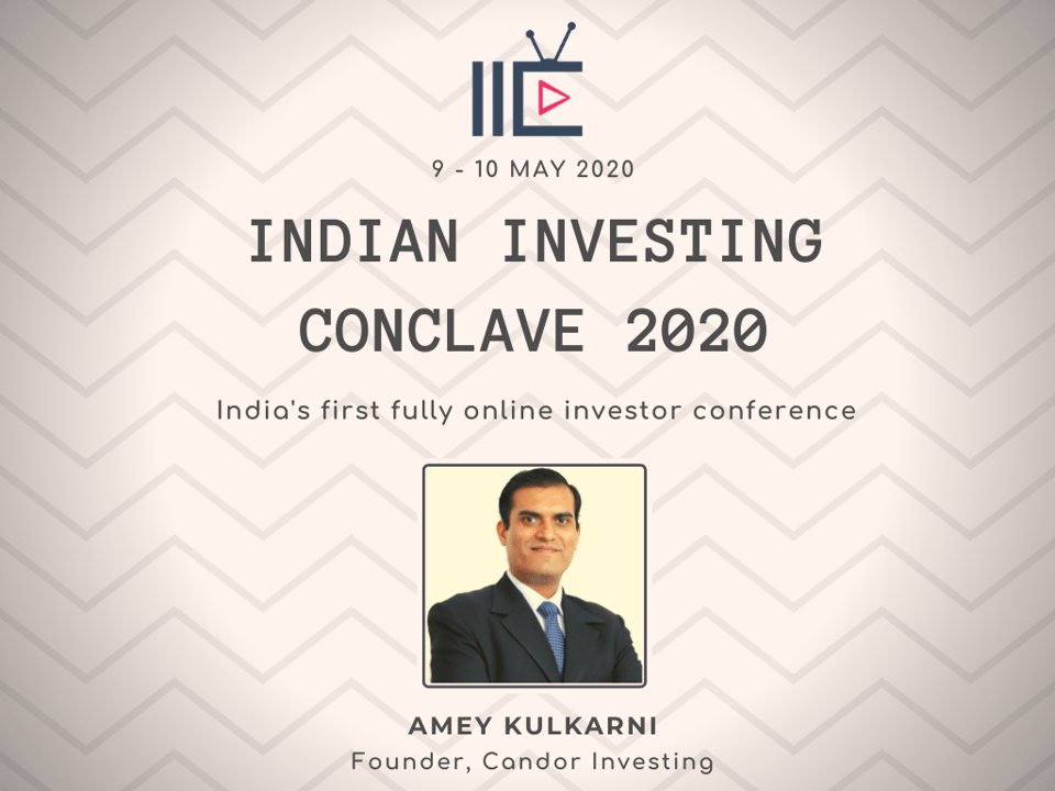 Amey Kulkarni presents his investing idea at the India Investing Conclave 2020