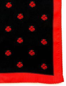 Four Roses bourbon silk scarf