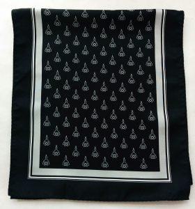 John Hopkins Radiology printed polyester scarf