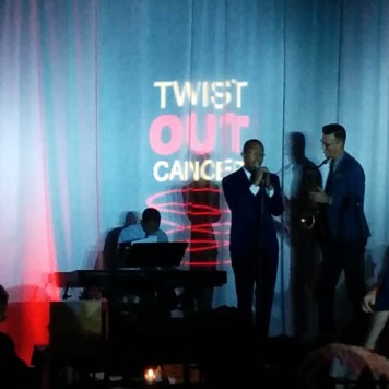 Great entertainment at Brushes with Cancer