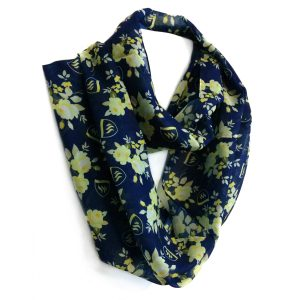 Infinity scarf in polyester chiffon