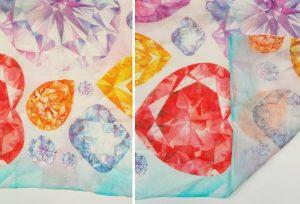 sample of silk modal blend fabric for custom scarves