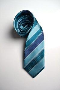Deluxe Uniforms, tie, silk, blue