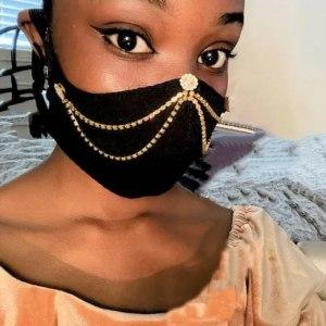 Bejeweled fancy mask
