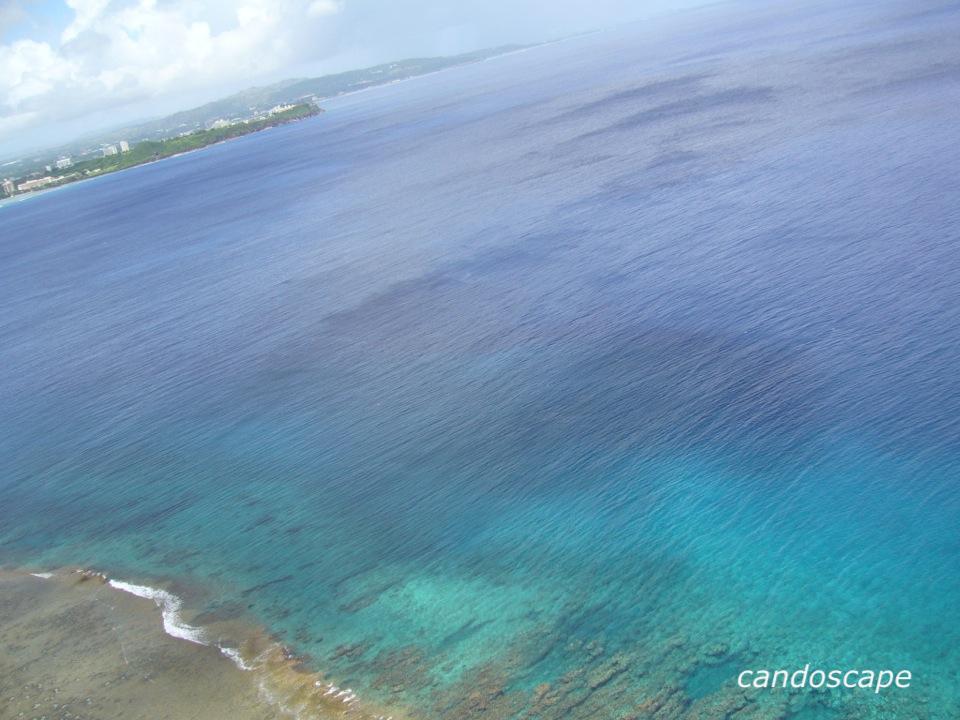 水平線が見えるグアムの展望台