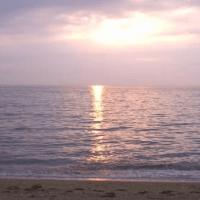 夕日が美しい砂浜 淡路島