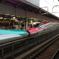 東北新幹線はやぶさ と  秋田新幹線こまち のドッキング