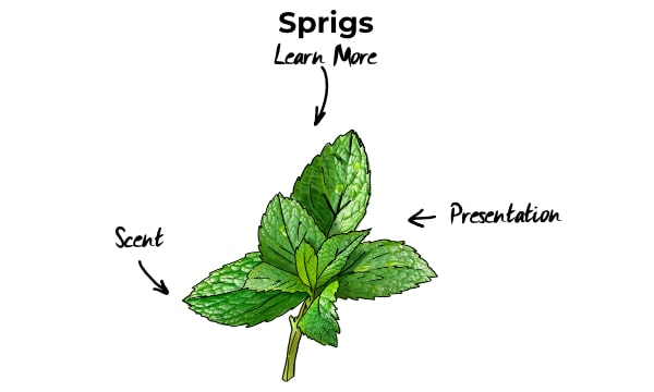 Sprigs in cocktails