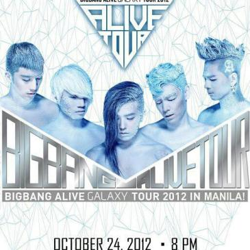 BIGBANG ALIVE GALAXY TOUR 2012 IN MANILA (TICKET PRICES&SEATPLAN) + FAN PROJECTS