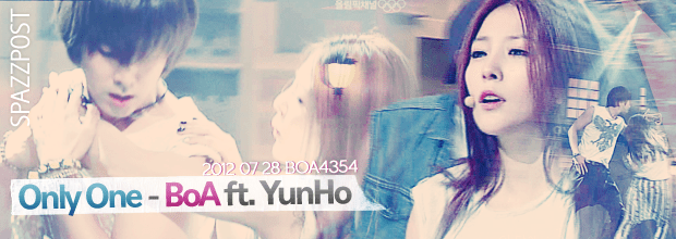 You are currently viewing Spazz Post #02: 2012 07 28 Only One – BoA ft. YunHo (+ DOWNLOAD)