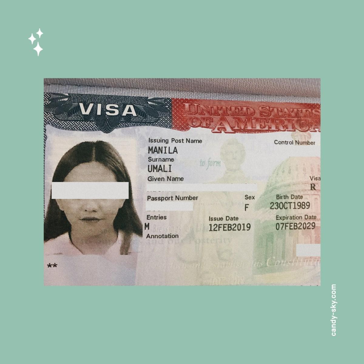 CandySky Of Memories: 2019 February - US Visa Renewed